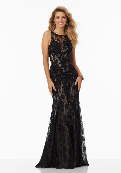 Morilee - Sleeveless Embroidered Sheath Gown