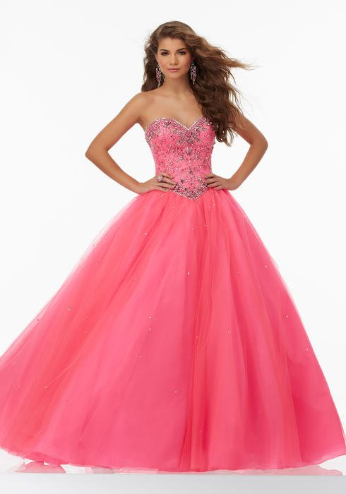 Morilee - Strapless Beaded Tulle Ball Gown