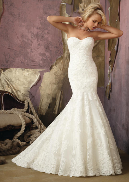 Morilee - Strapless Lace Sweetheart Mermaid