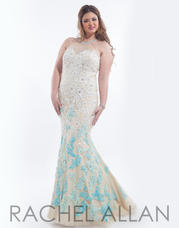 7036 Nude/Turquoise/Aqua front