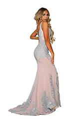 PS6071 Silver Nude back