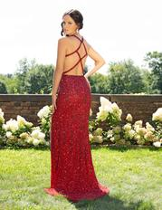 3241 Burgundy Ombre back