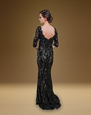 1905 Black/Nude back