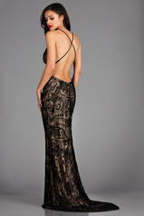 48557 Black/Nude back