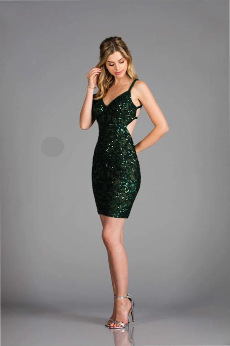 Scala - Sequined V-Neck Strappy Open Back