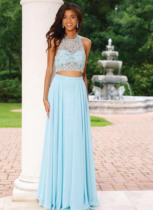 Sean Collection - Beaded Chiffon Two-Piece