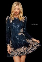 53064 Navy/Blush detail