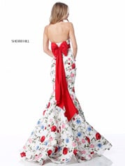 51882 Ivory/Red Print back
