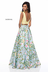 51959 Yellow/Aqua Print back