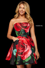 52267 Black/Red Print front