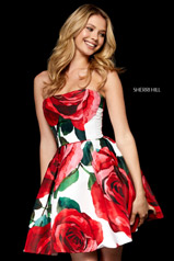 52267 Ivory/Red Print front