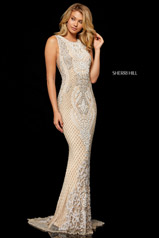 52369 Nude/Ivory/Silver front