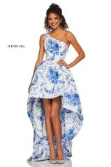52530 Ivory/Blue Print front