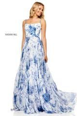 52621 Ivory/Blue Print front