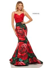 52930 Red/Black Print front