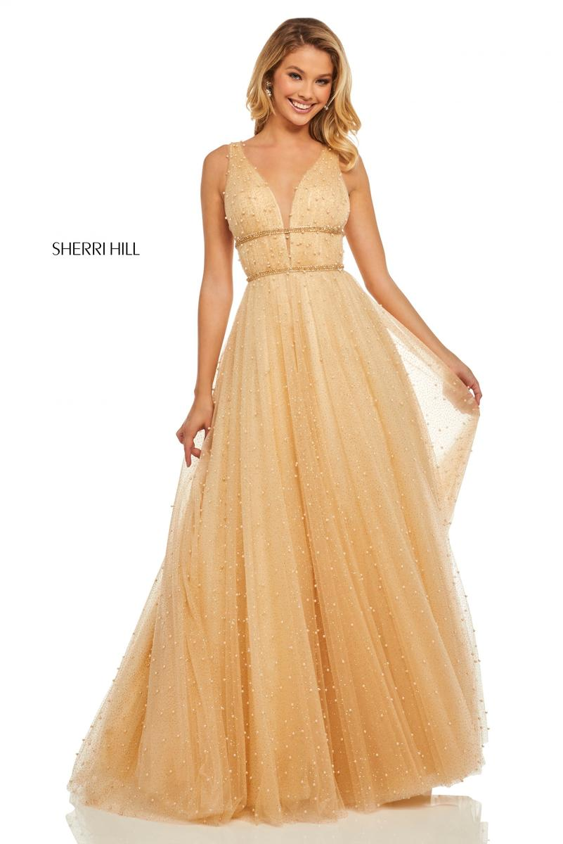 Sherri Hill Prom Dress Champagne