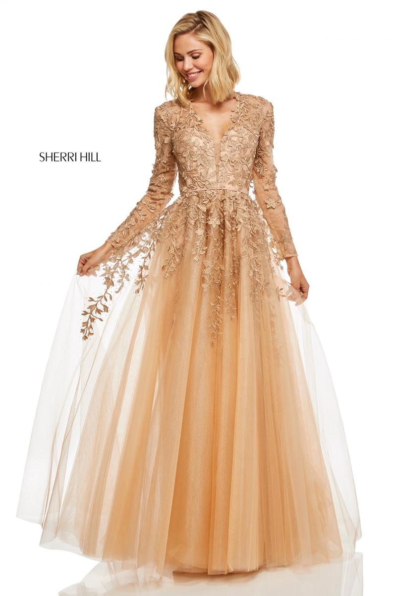 Sherri Hill Gold Prom Dress