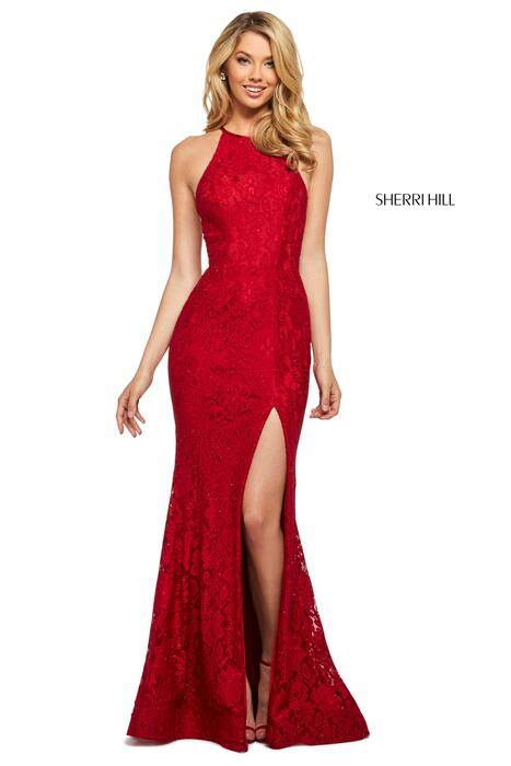 Sherri Hill - Laace Gown High Neckline