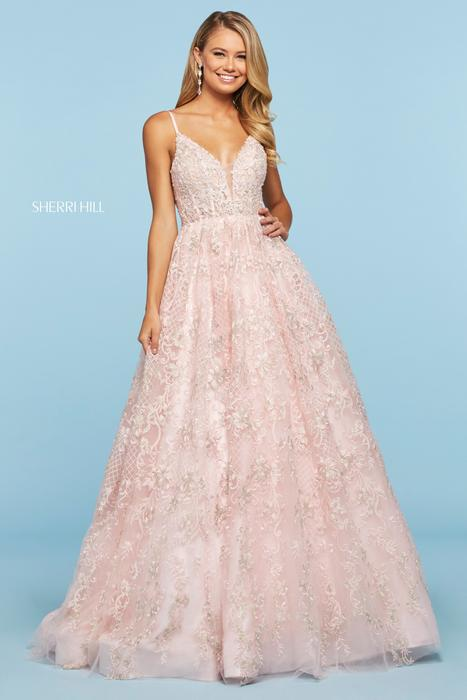 Sherri Hill - Embroidered Beaded Ballgown