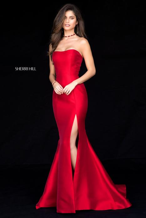 Sherri Hill - Satin Gown Strapless