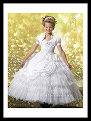 FP112 Girls Pageant Dresses Marys  Fp112 Size 10 White - front