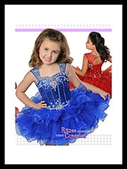 B849 Girls Pageant Dresses Ritzee B954 Size 6 Hot Pink  multiple