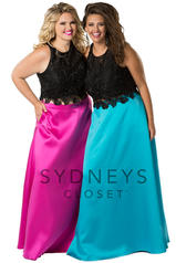 SC7228 Black/Turquoise front