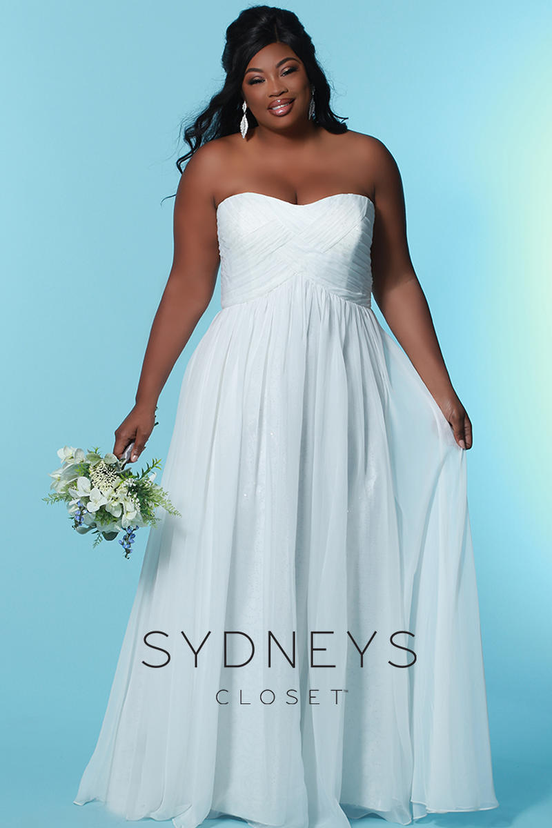 Sydney\'s Closet Plus Size Bridal SC5121 Bedazzled Bridal and ...