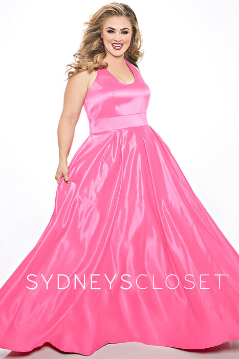 Sydney's Closet - Satin Halter Neck Gown