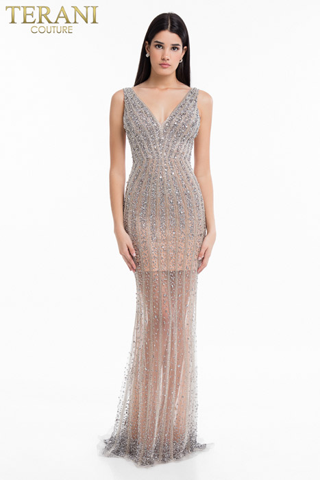 Terani - Beaded Gown Tank Open Back