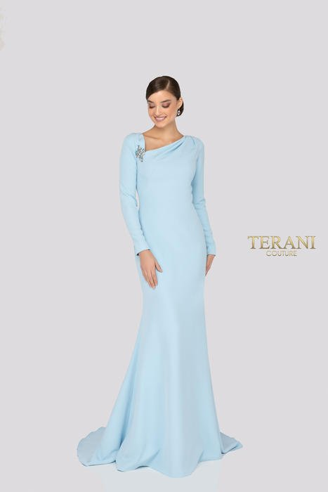 Terani - Long Sleeve One Shoulder