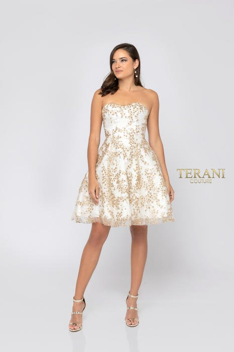 Terani - Strapless Sequin Embellished Dress