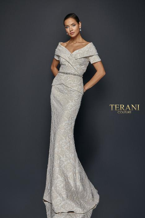 Terani - Pleated mock two piece gown