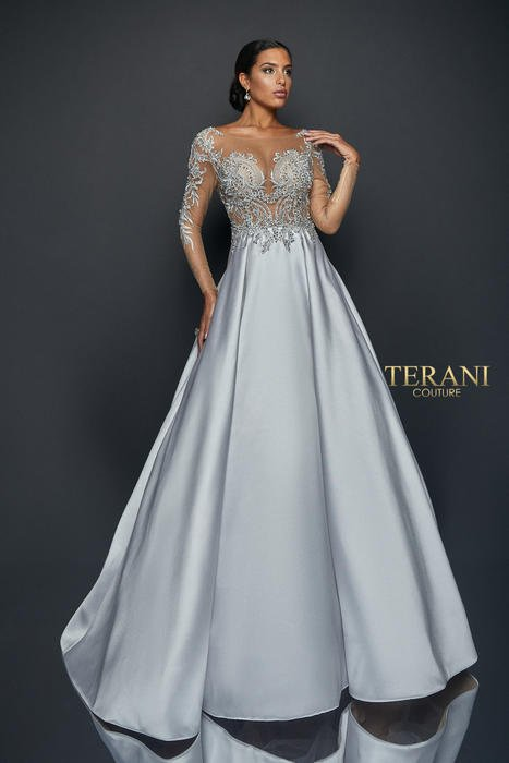 Terani - Sheer Illusion Ball Gown