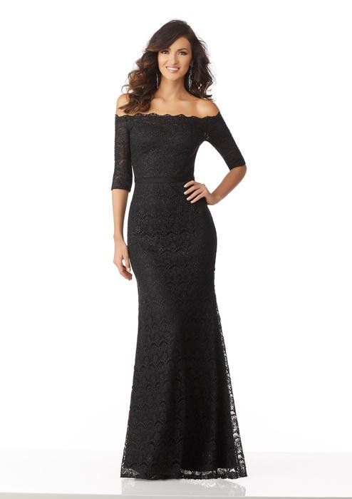 MGNY for Morilee - Mother Of The Bride/ Groom Off-Shoulder Gown