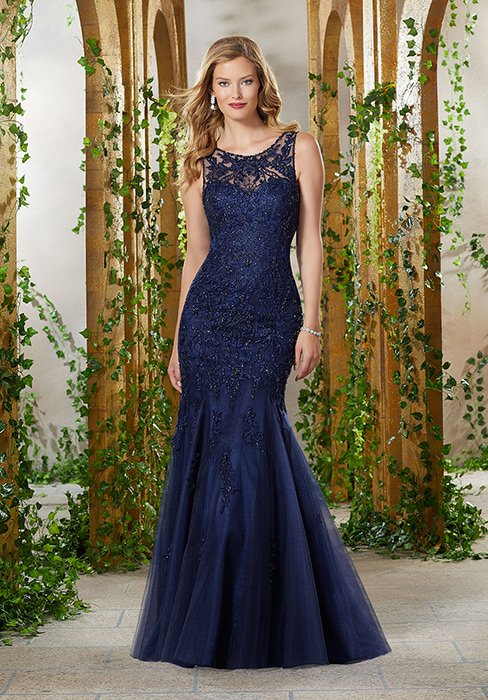 MGNY for Morilee - Fit & Flair Beaded embroidery