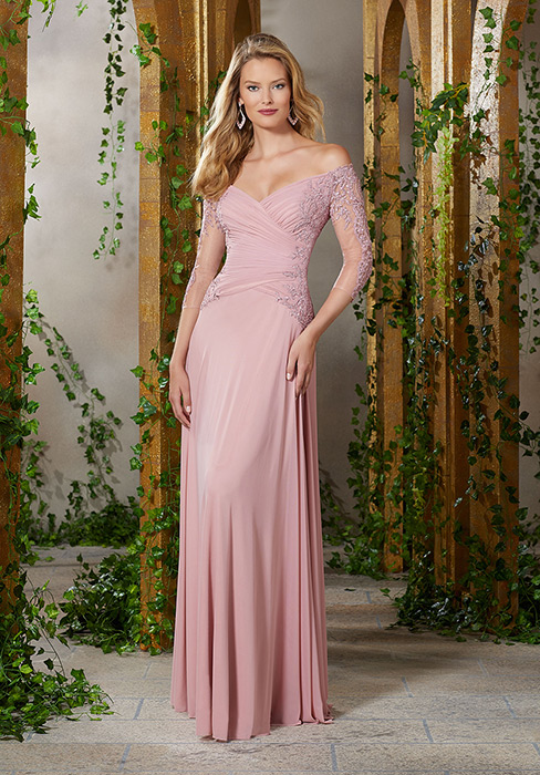 MGNY for Morilee - Off-Shoulder Mother of the Bride Gown