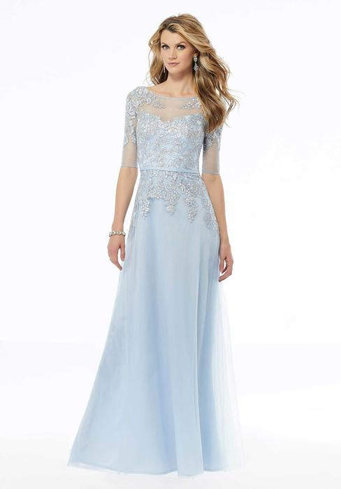 MGNY for Morilee - Chiffon Beaded Gown